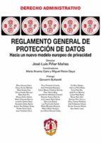 reglamento general de protección de datos jose luis piñar mañas 9788429019360