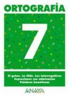 ortografia 7 (primaria) (ed. 2004) andrea pastor fernandez 9788466727860