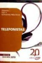 telefonistas. temario, test y supuestos practicos 9788468104560
