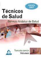 TECNICOS DE SALUD DEL SERVICIO ANDALUZ DE SALUD. SAS. TEMARIO