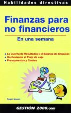 finanzas para no financieros en una semana-roger mason-9788496426870