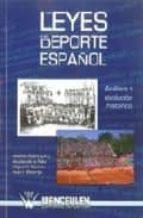 las leyes del deporte español 9788498232370