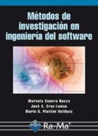 metodos de investigacion en ingenieria del software-mario g. piattini velthuis-9788499645070