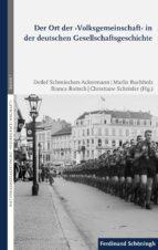 der ort der ›volksgemeinschaft‹ in der deutschen gesellschaftsgeschichte (ebook) 9783657786480