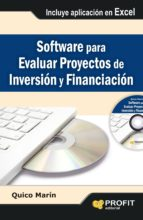 software para evaluar proyectos de inversion y financiacion quico marin 9788415735380