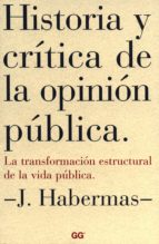 historia y crítica de la opinión pública (ebook)-j. habermas-9788425227080