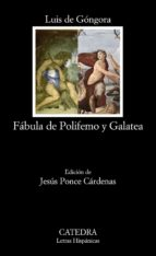 fabula de polifemo y galatea luis de gongora 9788437626680
