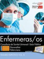 enfermeras/os conselleria de sanitat universal i salut publica: generalitat valenciana: temario especifico (vol. iii)-9788468183480