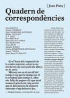 quadern de correspondencies-joan ponç-9788472268180