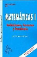 matematicas i: definiciones teoremas y resultados grado ingenieri eria aeroespacial-juan de burgos roman-9788492976980
