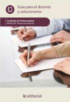 (i.b.d.) producción editorial. argn0109 guía para el docente y solucionarios 9788416351190