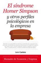 sindrome de homer simpson y otros perfiles psicologicos en la empresa-javier cantera herrero-9788417044190