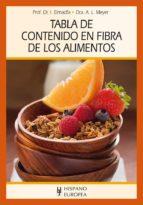 tabla de contenido en fibra de los alimentos ibrahim elmadfa 9788425520990