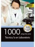1000 PREGUNTAS PARA TÉCNICO/A EN LABORATORIO - 9788468164700 - VV.AA.