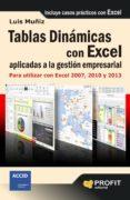 TABLAS DINAMICAS APLICADAS A LA MEJORA DE LA GESTION EMPRESARIAL: PARA UTILIZAR EN EXCEL 2007, 2010 Y 2013 - 9788415735410 - LUIS MUÑIZ