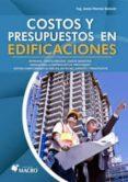 COSTOS Y PRESUPUESTOS EN EDIFICACIONES - 9786123042820 - JESUS RAMOS
