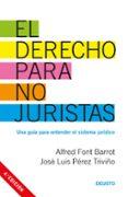 DERECHO PARA NO JURISTAS - 9788423427130 - ALFRED FONT BARROT
