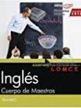 CUERPO DE MAESTROS. INGLES. TEMARIO - 9788468174730 - VV.AA.