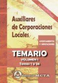 AUXILIARES DE CORPORACIONES LOCALES (VOL. I): TEMARIO - 9788482193830 - MANUEL SEGURA RUIZ