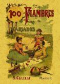 100 FIAMBRES VARIADOS: FORMULAS ESCOGIDAS (ED. FACSIMIL) - 9788497613330 - MADEMOISELLE ROSE