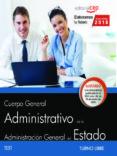 OPOSICIONES MINISTERIOS ADMINISTRATIVO (TURNO LIBRE) TEST - 9788468194240 - VV.AA.