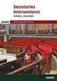 SECRETARIOS INTERVENTORES TEMARIO-VOLUMEN V - 9788491470540 - ED. ADAMS