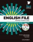 ENGLISH FILE ADVANCED WITH KEY (PACK) 3ª ED 2015 - 9780194502160 - VV.AA.