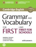 GRAMMAR AND VOCABULARY FOR FIRST AND FIRST FOR SCHOOLS BOOK WITH ANSWERS AND AUDIO - 9781107481060 - VV.AA.