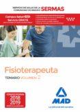 FISIOTERAPEUTA DEL SERVICIO DE SALUD DE LA COMUNIDAD DE MADRID TEMARIO (VOL. 2) (SERMAS) - 9788414219560 - VV.AA.
