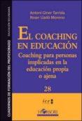 coaching en educacion, el-antoni giner tarrida-9788415212690