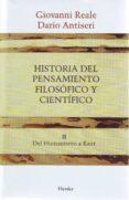 HISTORIA DEL PENSAMIENTO FILOSOFICO Y CIENTIFICO (T. 2) - 9788425415890 - DARIO ANTISERI
