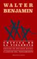 CRITICA DE LA VIOLENCIA WALTER BENJAMIN