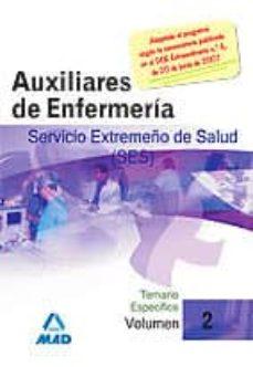 Inmaswan.es Auxiliares De Enfermeria Del Servicio Extremeño De La Salud (Ses) : Temario Especifico (Vol. Ii) Image
