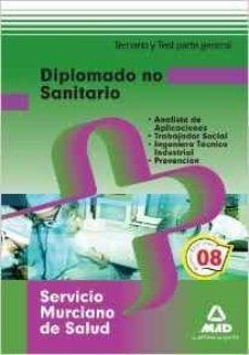Mrnice.mx Diplomados No Sanitarios Del Servicio Murciano De Salud. Temario Y Test De La Parte General Image