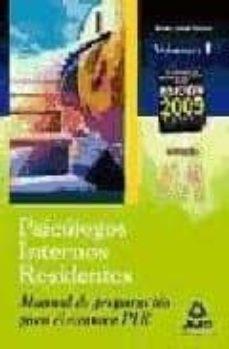Officinefritz.it Manual De Preparacion Para El Examen Pir. Volumen I: Psicologos I Nternos Residentes Image