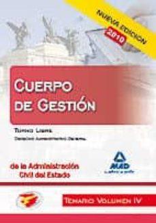 Ojpa.es Gestion Admon.del Estado Vol Iv Turno Libre (Nueva Edicion 2010) Image