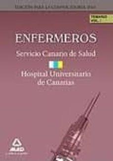 Padella.mx Enfermeros Del Servicio Canario/ Hopital Universitario De Canaria S: Temario. Volumen I Image
