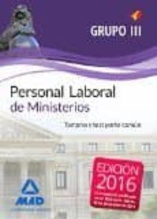 Iguanabus.es Personal Laboral De Ministerios Grupo Iii: Temario Y Test Parte Comun Image