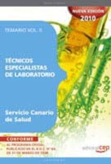 Mrnice.mx Tecnicos Especialistas De Laboratorio Del Servicio Canario De Sal Ud. Temario Vol Ii Image