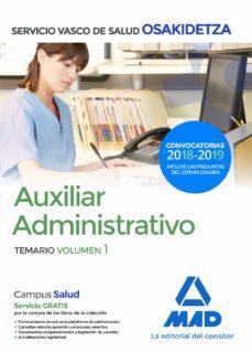 auxiliar administrativo de osakidetza - servicio vasco de salud temario volumen 1-9788414215210