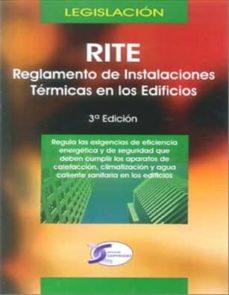 rite: reglamento de instalaciones termicas en los edificios: legi slacion (3ª ed.)-9788415270010