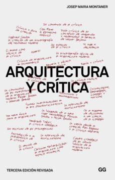 arquitectura y crítica (ebook)-josep maria montaner-9788425227110