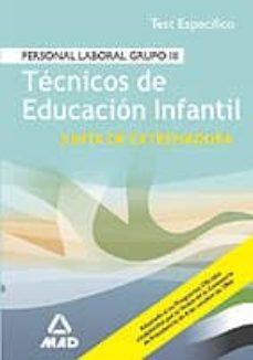 Bressoamisuradi.it Tecnicos De Educacion Infantil Junta De Extremadura: Personal Lab Oral Grupo 3: Test Especifico Image