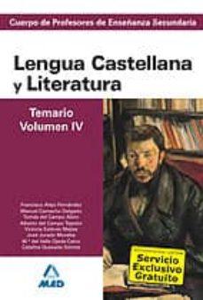 Upgrade6a.es Cuerpo De Profesores De Enseñanza Secundaria Lengua Castellana Y Literatura Temario Volumen Iv Image