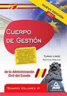 Permacultivo.es Cuerpo De Gestion De La Administracion Civil Del Estado. Temario Vol. Iii Image
