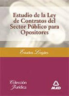 Premioinnovacionsanitaria.es Estudio De La Ley De Contratos Del Sector Publico Para Opositores Image