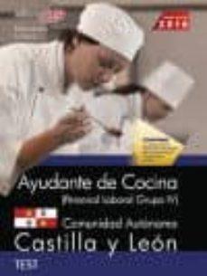 Ayudante De Cocina Personal Laboral Grupo Iv Comunidad Autonomica Castilla Y Leon Test Vv Aa Comprar Libro 9788468170510