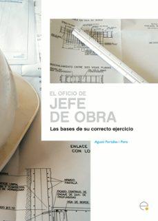 Descarga gratuita de ebooks móviles OFICIO DE JEFE DE OBRA 9788483018910 MOBI PDB DJVU (Literatura española)