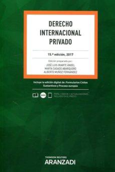 derecho internacional privado (15ª ed.)-josé luis. casado abarquero, marta. muñoz fernández, alberto iriarte ángel-9788491771210