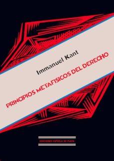 Descargar PRINCIPIOS METAFISICOS DEL DERECHO gratis pdf - leer online